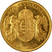 Zlatá mince Dvacetikoruna Františka Josefa I. Uherská ražba 1899