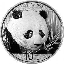 Stříbrná investiční mince Panda 30g 2018