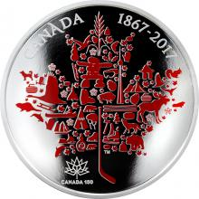Stříbrná mince 5 Oz Canadian Icons 2017 Proof
