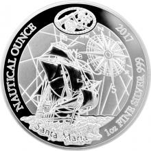 Stříbrná mince 1 Oz Santa Maria - Nautical Ounce 2017 Proof