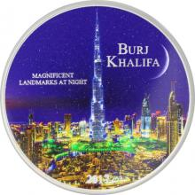 Stříbrná mince 2 Oz Burj Khalifa Magnificent Landmarks at Night 2017 Standard