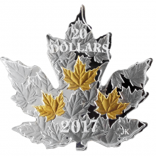 Stříbrná mince Maple Leaf Silhouette 1 Oz 2017 Proof