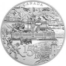 Stříbrná mince 5 Kg Kanada 150. výročí 2017 Proof