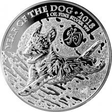 Stříbrná investiční mince Rok Psa Lunární The Royal Mint 1 Oz 2018