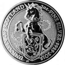 Stříbrná investiční mince The Queen's Beasts The Unicorn 2 Oz 2018