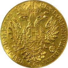 Zlatá mince 4-Dukát Ferdinanda I. 1837 A