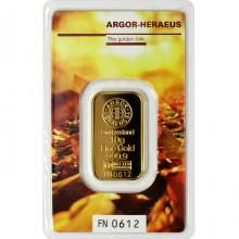 10g Argor Heraeus Following Nature - Podzim 2017 investiční zlatý slitek