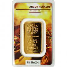 31,1g Argor Heraeus Following Nature - Podzim 2017 investiční zlatý slitek