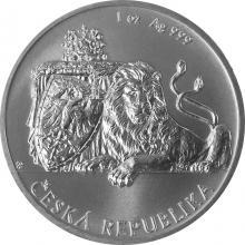 Stříbrná uncová investiční mince Český lev 2017 Standard