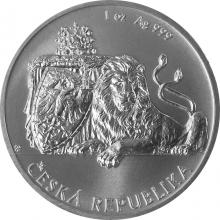 Stříbrná uncová investiční mince Český lev 2017, číslo Standard