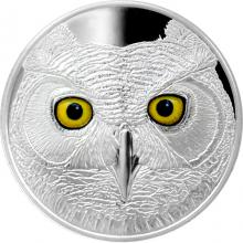 Strieborná minca očami výra virgínskeho 2017 Proof