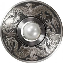 Stříbrná mince 1 Oz Dragon and Pearl 2017 Antique Standard
