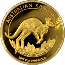 Zlatá mince Australian Kangaroo 2 Oz 2017 High Relief Proof