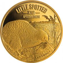 Zlatá minca Little Spotted Kiwi 1/4 Oz 2018 Proof