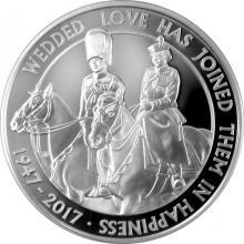 Stříbrná mince Královská platinová svatba 2017 Proof