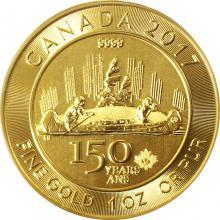 Zlatá investičná minca Voyageur 1 Oz 150 let Kanady 2017