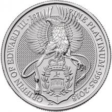 Platinová investičná minca The Queen's Beasts The Griffin 1 Oz 2018