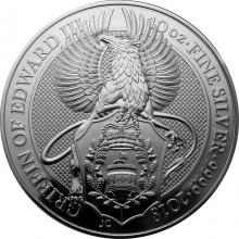 Stříbrná investiční mince The Queen's Beasts The Griffin 10 Oz 2018