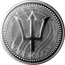 Strieborná investičná minca Trojzubec Barbadosu 1 Oz 2017
