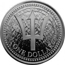 Stříbrná investiční mince Trojzubec Barbadosu 1 Oz