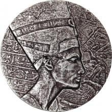 Strieborná investičná minca Queen Nefertiti 5 Oz 2017