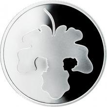 Stříbrná mince Adam a Eva 2 NIS Izrael Biblické umění 2017 Proof