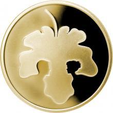 Zlatá mince Adam a Eva 10 NIS Izrael Biblické umění 2017 Proof