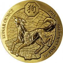 Zlatá minca 1 Oz Rok Psa Rwanda 2018
