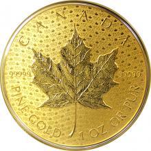 Zlatá minca Iconic Maple Leaf 150. výročie 1 Oz 2017 Reverse Proof (.99999)