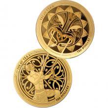 Maui and the Sun Maori Art Sada zlatých mincí 2018 Proof