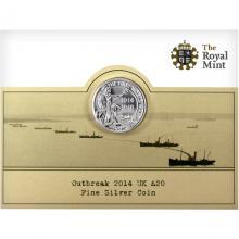 Strieborná minca Outbreak - Prvá svetová vojna 2014 Štandard