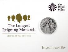 Stříbrná mince Nejdéle vládnoucí monarcha 2015 Standard