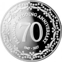 Strieborná minca Kráľovská platinová svadba Isle of Man 2017 Proof
