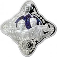 Stříbrná mince Královská platinová svatba 1 Oz Royal Star 2017 Proof