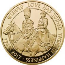 Zlatá mince Královská platinová svatba 2017 Proof