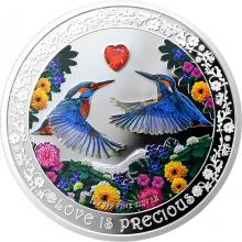 Stříbrná mince Ledňáčci 1 Oz Love is Precious 2018 Proof