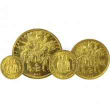 Raritná sada zlatých dukátov Svätý Václav 1929