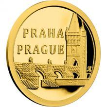 Zlatá minca Praha - Karolov most 2017 Proof