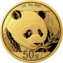 Zlatá investičná minca Panda 3g 2018
