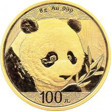 Zlatá investičná minca Panda 8g 2018