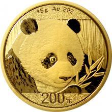 Zlatá investiční mince Panda 15g 2018