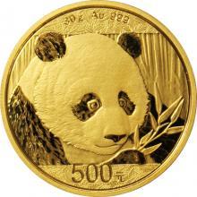 Zlatá investičná minca Panda 30g 2018