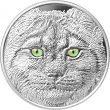 Strieborná minca očami rysa kanadského 2017 Proof