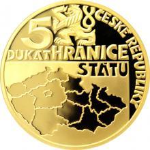 Pětidukát ČR 2018 Hranice státu Proof