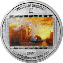Stříbrná mince 3 Oz Ulysses - William Turner 2017 Krystaly Proof