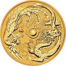 Zlatá investičná minca Drak a Fénix 1 Oz 2018
