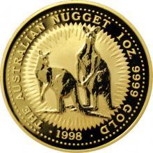 Zlatá investiční mince The Australian Nugget 1998 1 Oz