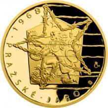Zlatá mince Převratné osmičky našich dějin - 1968 Pražské jaro 2018 Proof