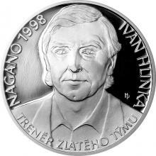 Stříbrná mince Ivan Hlinka 2018 Proof