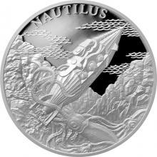 Stříbrná mince Fantastický svět Julese Verna - Ponorka Nautilus 2018 Proof